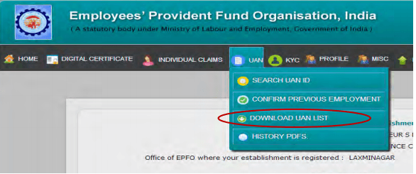 UAN Login – Checking Status, Verification and Withdrawl of PF