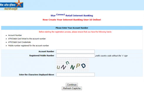 BOI create Internet banking user id online
