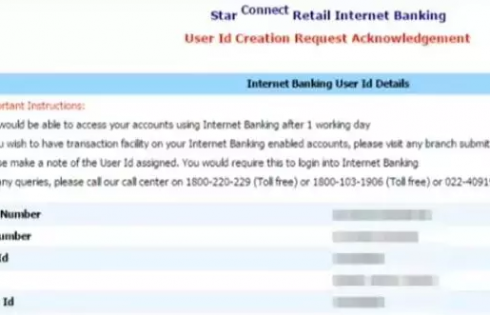 Bank of India net banking user id details
