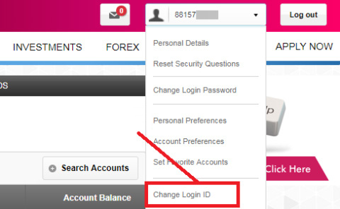 Change Login ID for Axis Bank net banking