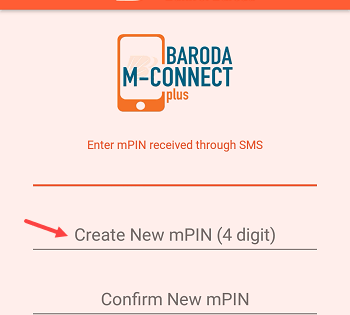 Create Mconnect mPIN