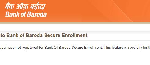 Enroll for bank of baroda enrollment