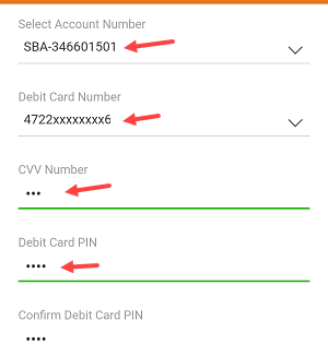 Enter ICICI new Debit card pin using iMobile app