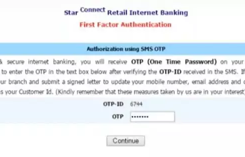 Enter OTP for authentication