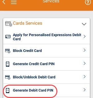 Generate Debit Card PIN using iMobile