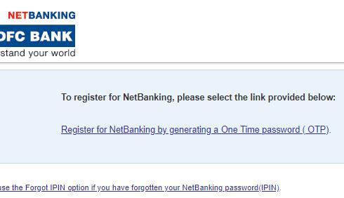 HDFC Bank Net Banking New user registration