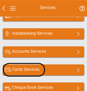 ICICI Bank card services