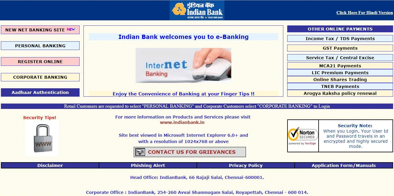 How To Register/Activate Indian Net Banking Online Process