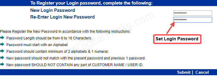 Indian bank Netbanking Login Password
