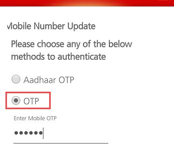Kotak Mahindra Mobile Number Update OTP