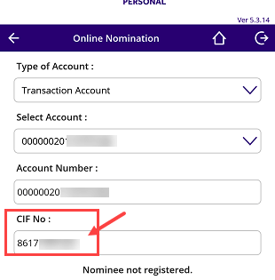 SBI anywhere - view CIF number