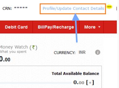 Update contact details online at kotak mahindra bank