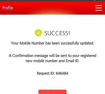 Update mobile number on Kotak mobile banking app