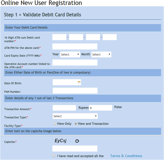 Vijaya bank net banking online new user registration