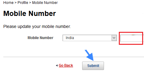change mobile number online kotak mahindra bank